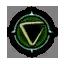 Game Icon Axii symbol unlit