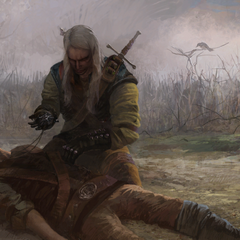 Geralt and dead Berengar.