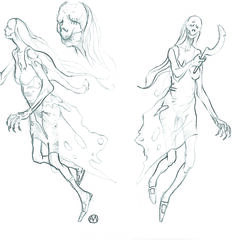 The first sketch presented the general concept for the creature