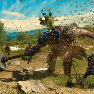 Geralt and Golyat on promo screenshot