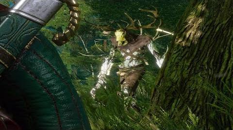 The Witcher 3 Kernun the Leshen Boss Fight (Hard Mode)