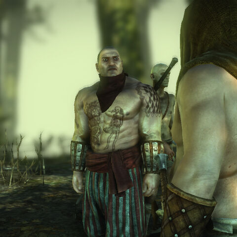 <i>Dmitri and a bandit during a dialogue.</i>