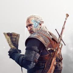 Render of Geralt