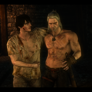 Geralt and Aryan in the Dungeons