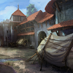 Temple Quarter by day concept painting