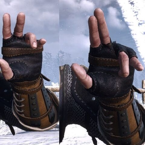 Axii's casting gesture.