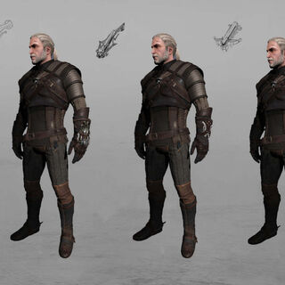 the Witcher 3 crossbow concept arts