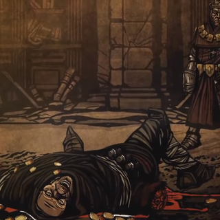 Dead body of him in The Witcher 1 recap video