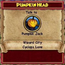 Q WC Pumpkin Head