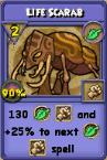 Life Scarab Item Card