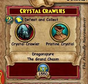 Crystal Crawlies quest
