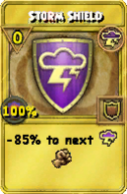 Storm Shield Treasure Card
