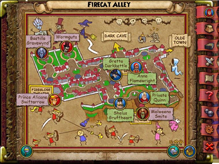 Firecat Alley Map