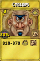 Cyclops Treasure Card