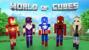World of Cubes Marvel Skin Pack Overview