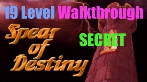Wolfenstein 3D Spear of Destiny - 19 Secret Floor Walkthrough I am Death incarnate!