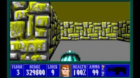 Wolfenstein 3D (id Software) (1992) Episode 2 - Operation Eisenfaust - Floor 3 HD-0