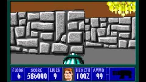 Wolfenstein 3D (id Software) (1992) Episode 5 - Trail of the Madman - Floor 6 HD