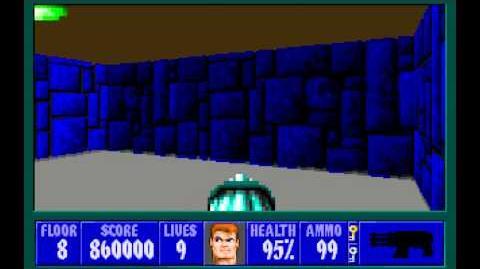 Wolfenstein 3D (id Software) (1992) Episode 6 - Confrontation - Floor 8 HD