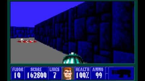 Wolfenstein 3D (id Software) (1992) Episode 2 - Operation Eisenfaust - Secret Floor 10 HD