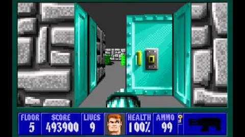 Wolfenstein 3D (id Software) (1992) Episode 1 - Escape From Castle Wolfenstein - Floor 5 HD