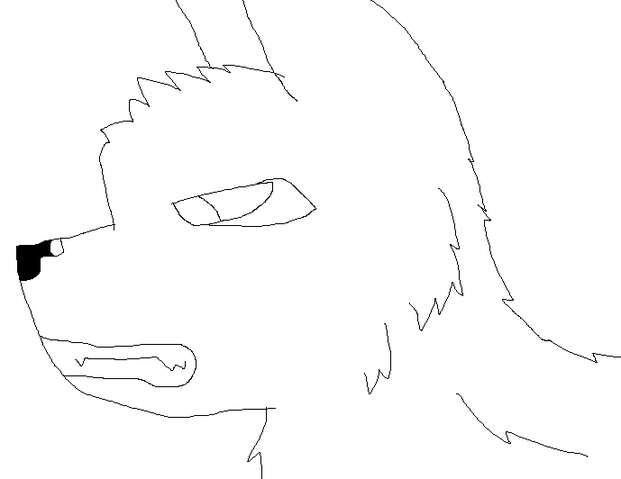 File:Wolf line art.png
