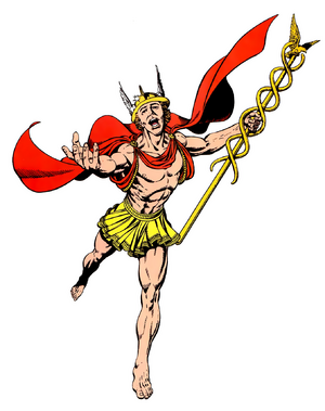 Hermes with staff