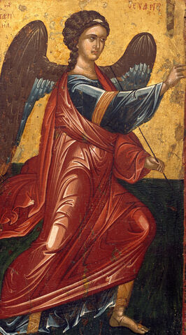 File:Greek, Late Byzantine - The Archangel Gabriel, from an Annunciation scene on the King's Door of an iconostasis - Google Art Project.jpg