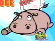 Hippo below Butcher on Vocab Bee title card