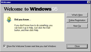 Windows95 welcome