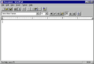 Windows95 wordpad
