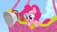 Pinkie Pie in her balloon S1E13