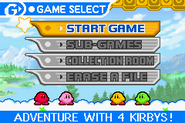 Kirby mirror gameselect