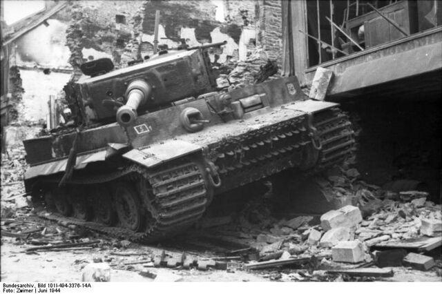 File:Tiger I Wreck, Villers Bocage 1944.jpg