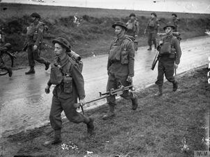 Royal Irish Fusiliers marching near Arras, October, 17 1939