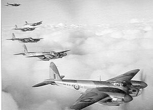 Mosquito Aircraft in formation