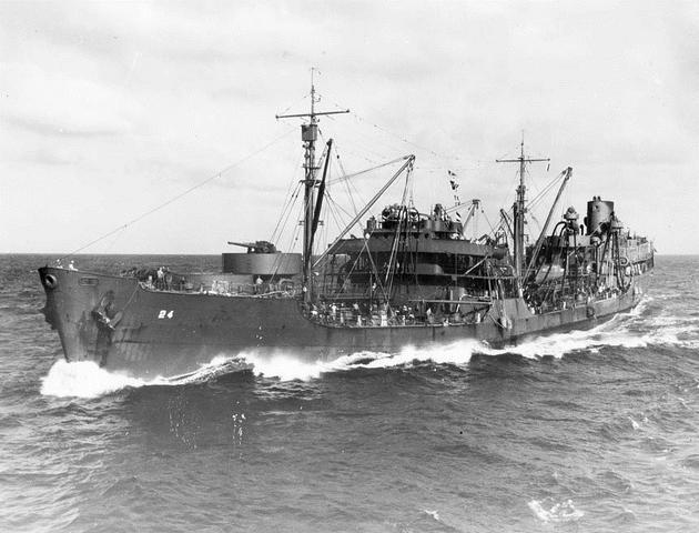 File:USS Platte (AO-24) off the Solomons 1942.png