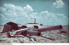 Sevastopol Destroyed Artillery, 1942