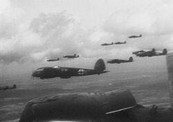 He 111s inflight