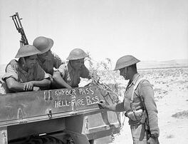 Indian soldiers of 4th Indian Division decorate their truck, Operation Battleaxe 1941