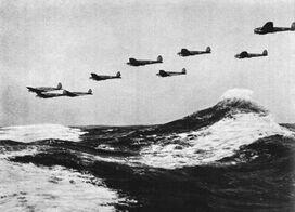 Heinkel He 111s over Channel