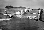 American Spitfire shot down at Paestum, 1943