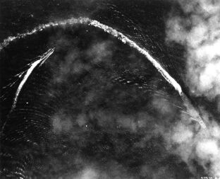 Akagi under air attack