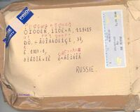 Letter to Russia with krokozyabry