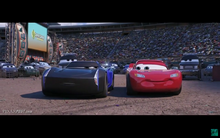 Jackson Storm and Lightning McQueen