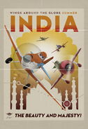 Planes vintage poster india