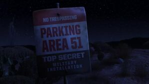 Parking Area 51 sign