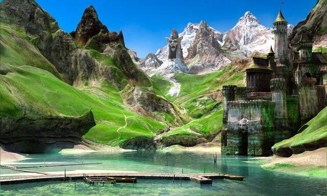 File:1600x958 8079 Landscape 3d fantasy landscape castle mountains picture image digital art.jpg