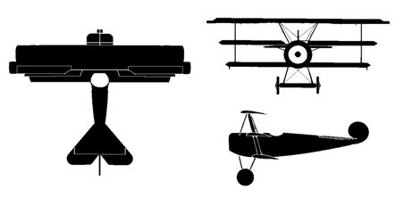 Fokker dr1 silhouette