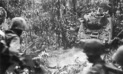 Medium tank crosses Suicide Creek